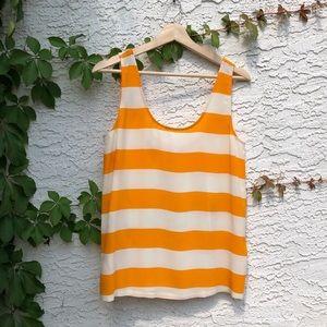 Joie silk orange striped tank